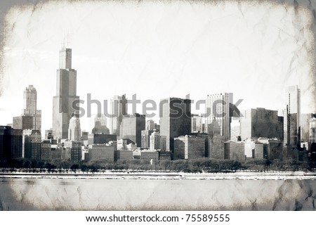 Old Chicago - stock photo
