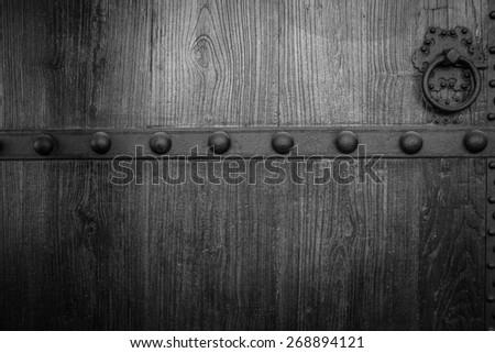 Old china door - stock photo