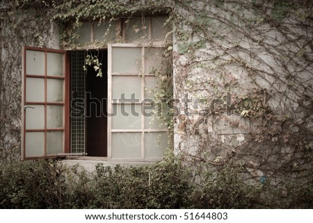 old chinese windows - stock photo