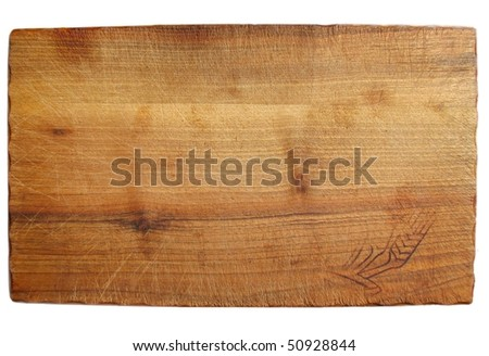 old chopping board made of wood - stock photo