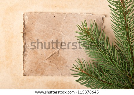 Old Christmas background - stock photo