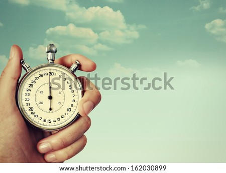 old chronometer - stock photo