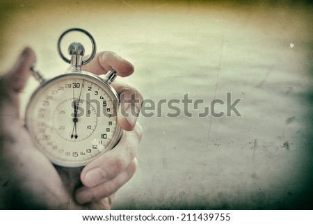 Old Chronometer background - stock photo