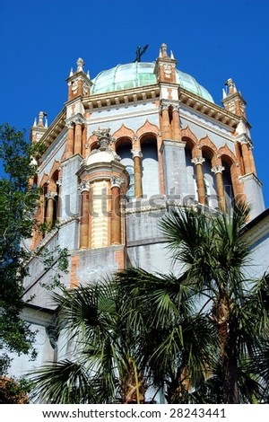 old church archtecture st augustine florida - stock photo