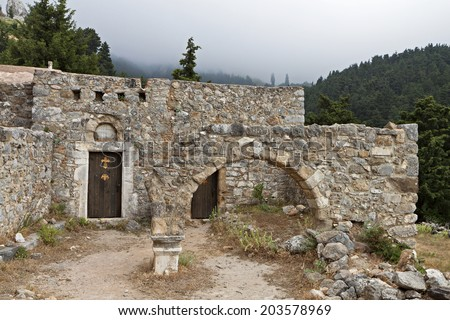 Old church at Palio Pyli village, Kos island, Greece - stock photo
