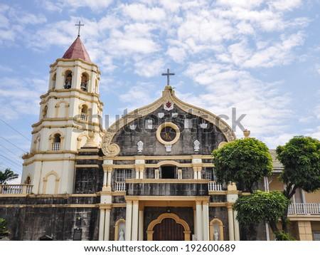 Old Church, Church of Quingua - Plaridel, Bulacan, Philippines - stock photo