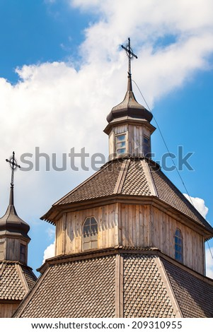 Old Church in front of Blue sky - stock photo