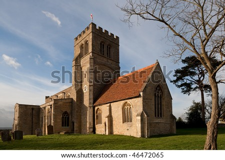 Old Church in Northamptonshire rural countryside England - stock photo