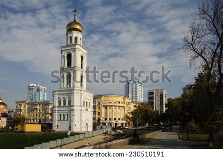 old church in Russia, Samara city - stock photo