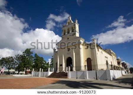 old church in Santa Clara Cuba - stock photo