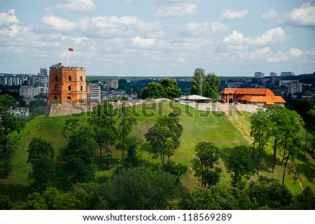 Old churches in Lithuania - stock photo