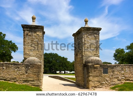 Old City Gates in st. Augustin, Florida, US - stock photo