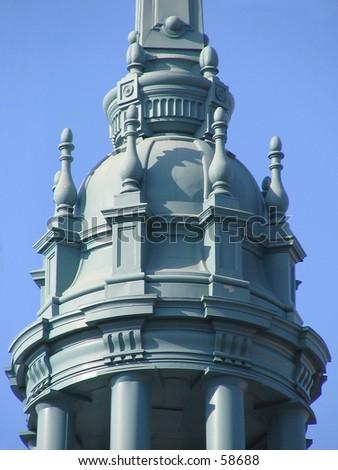 Old City Hall, Berkeley, California -- Detail of rooftop metal cupola. - stock photo