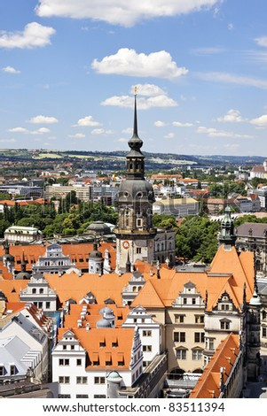 Old city of Dresden, Germany - stock photo