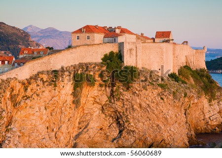 Old city of Dubrovnik - stock photo