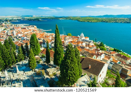 Old City of Dubrovnik, Croatia. UNESCO World Heritage. Endangered from 1991 to 1998 - stock photo