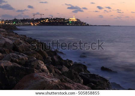 Old city of Jaffa on sunset, Israel