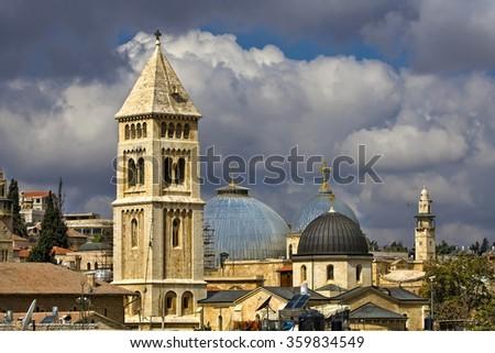 Old city of Jerusalem - stock photo