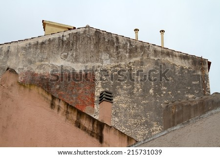 old city roofs abstract background - stock photo