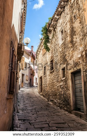 Old city street in Croatia