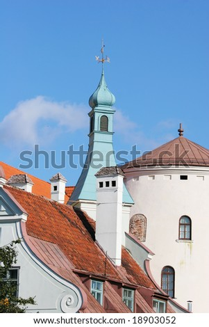 Old city view (Riga, Latvia) - stock photo