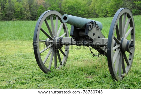 Old civil war cannon on display - stock photo