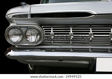 old classic car - stock photo