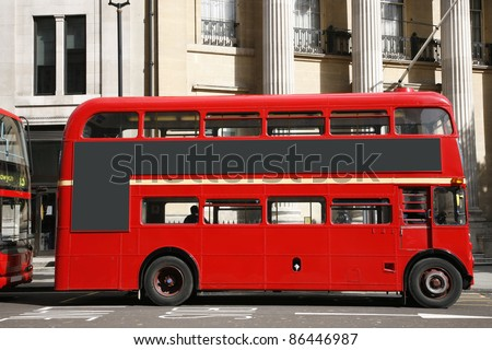 Old classic routemaster bus - stock photo