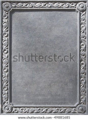 old clean nameplate with the verdigris - stock photo