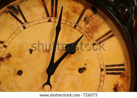 Old clock - stock photo