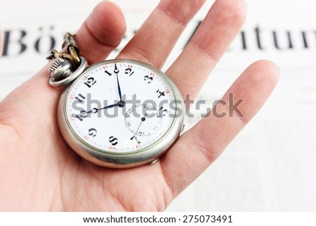 Old clock face or Do not waste your time, Time management, Time is money - stock photo