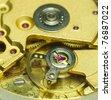 Old clock mechanism. - stock photo