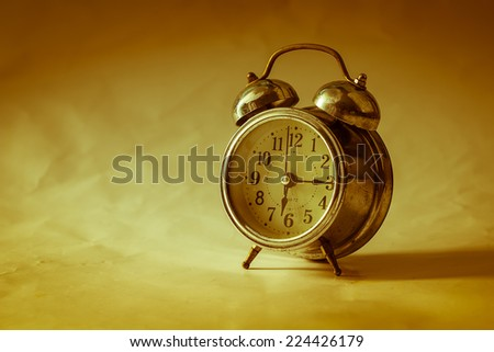 Old clock.retro vintage - stock photo