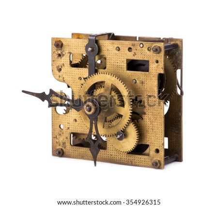 Old clockwork mechanism - stock photo
