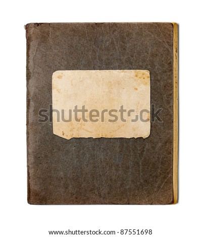 old closed copybook isolated on white - stock photo