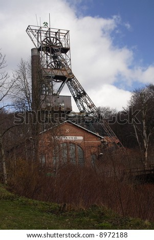 Old coal pit by name Ed. Urx ( Czech republic at Europe ) - stock photo