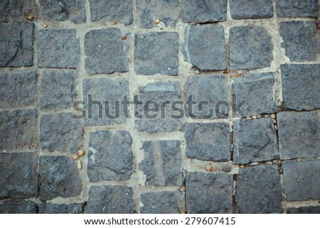 Old cobblestone road background