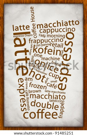Old Coffee Poster - stock photo