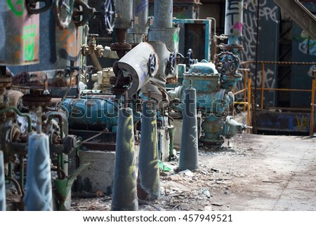 old cogeneration plant - lost place