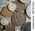 Old coins  background - stock photo