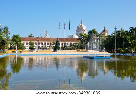 Old colonial city of Carthagena, Colombia - stock photo