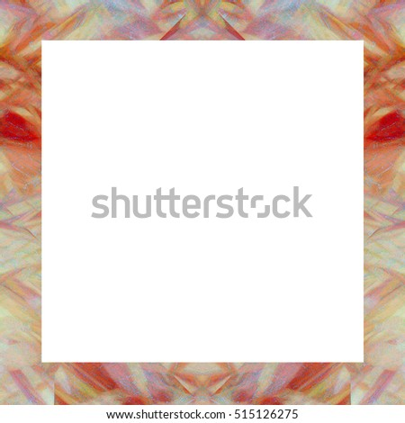 Old color grunge vintage weathered frame with abstract antique texture and retro pattern. 1:1 aspect ratio