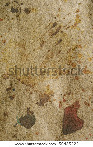 old colored grunge background texture on cardboard