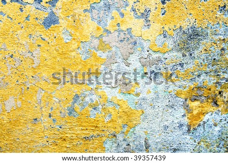 Old colorful wall texture - stock photo