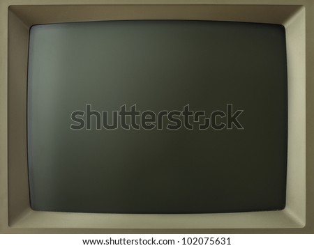 Old computer/TV screen. - stock photo