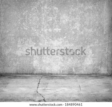Old concrete room interior