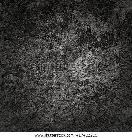 Old concrete texture with dark edges square - stock photo