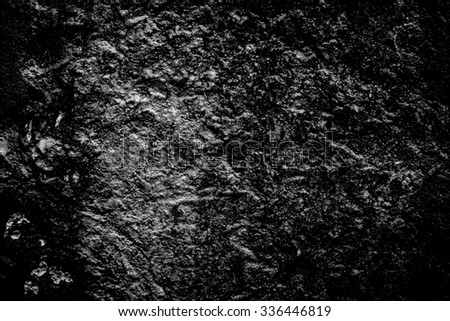 Old concrete wall background close up black and white