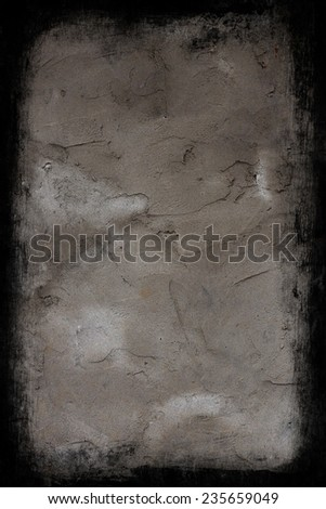Old concrete wall with border - stock photo