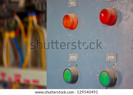 old control panel - stock photo
